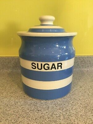 T.G. Green Cornish Ware Pottery Sugar Jar/canister  • 9£