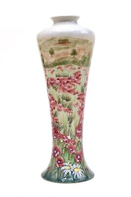"Cobridge Stoneware Summer Meadow Range Candles Ley 10"" Vase Rachel Bishop C2000 • 180£"