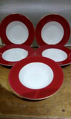 5 Royal Worcester Bone China 8  Soup Bowls Made In England  • 9.99£