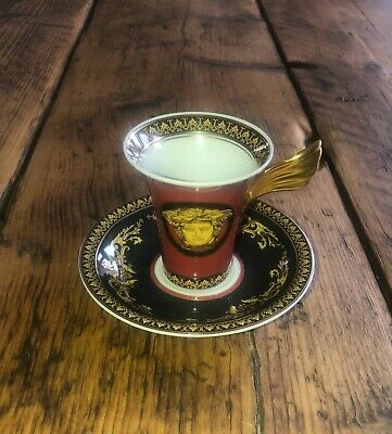 Versace Rosenthal Medussa Coffee Cup And Saucer (New) • 25£