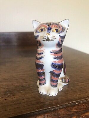 Royal Crown Retired Derby Sitting Kitten Seated Paperweight Gold Stopper Imari  • 12.30£