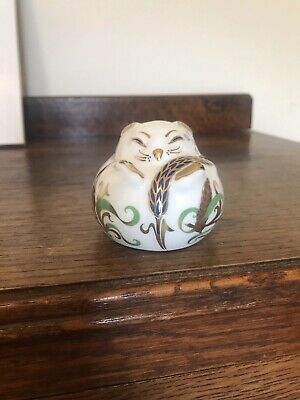 ROYAL CROWN DERBY SLEEPING DORMOUSE Paperweight Gold Stopper • 12.10£