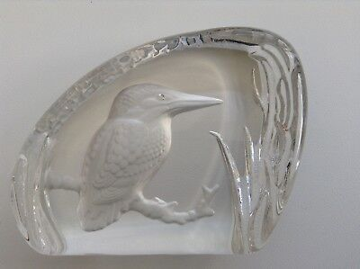 Rare Vintage Wedgwood Glass Lead Crystal Kingfisher Bird Paperweight • 9.99£
