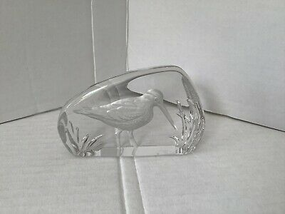 Rare Vintage Wedgwood Glass Lead Crystal Snipe Bird Paperweight • 9.99£