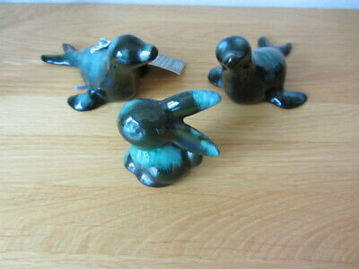 Two Canadian Blue Mountain Pottery Seals And One Rabbit • 4.99£