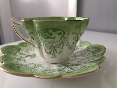 Rare Antique Pre Shelley Wileman Foley Fluted Shape  Cup & Saucer C1896 To C1897 • 49.99£