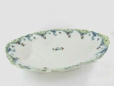 Antique English China Meat Plate Furnivals Adelphi Pattern Well And Tree Design • 27.50£