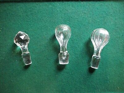 Antiques Crystal Decanter Stoppers • 2£