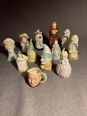 Large Collection Royal Worcester Candle Snuffers 11 Worcester 1 Toby Jug Mini • 59.99£