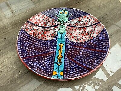 Poole Pottery Stunning 14  Dragonfly Charger Designed By Tony Morris Limited Ed • 125£