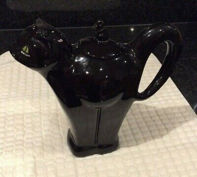 Vintage Carlton Ware Black Cat And Mouse Art Deco Style Teapot  • 15£