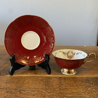 Beautiful Queens Bone China Red Cup And Saucer • 9.99£
