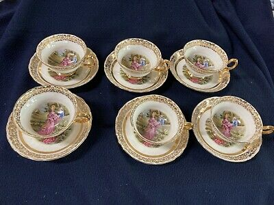 Vintage Tuscan Cups And Saucers • 20£