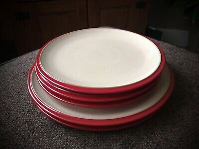 Denby Everyday Red Salsa Plates • 16.99£