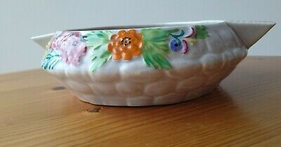 Art Deco 'Rock Garden' Carlton Ware Dish Hand Painted • 18£