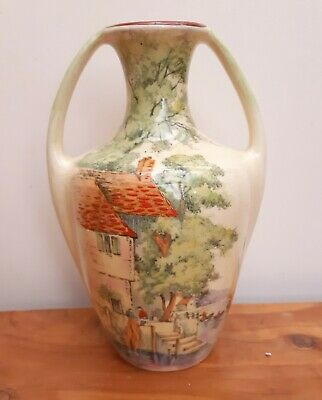 Rare Royal Winton HAVEN Hand Painted Handled Vase 1930's  • 34£