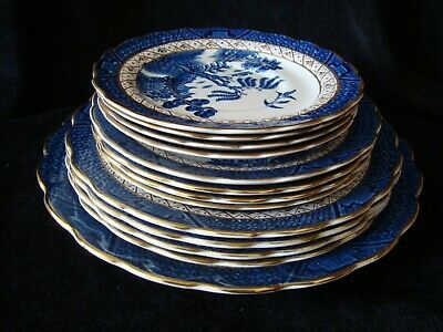 Booths Real Old Willow Plate Set - 13 Plates • 44.99£