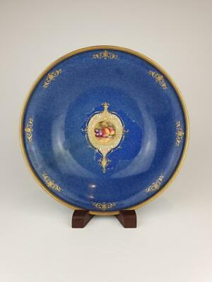Good Royal Worcester Blue Shagreen Bowl, Painted E.Townsend, 2769.  1928. • 9.99£