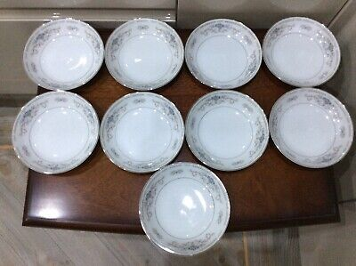 "Vintage Wade  "" Diane "" , Small Bowl/ Side Plate , X 9 , White ,blue & • 20£"