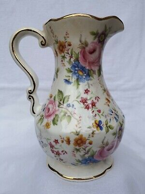 Vintage Fenton English Bone China Floral Jug Height 6.5  • 12.50£