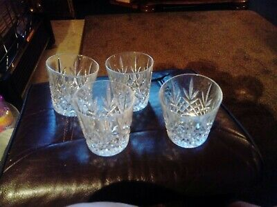 4 Lead Crystal Whisky Glasses • 15£