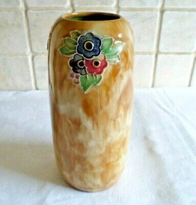 ROYAL DOULTON TUBE LINED VASE SIGNED FN - MADE IN ENGLAND -  1920s • 65£