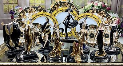 Complete Collection Of Franklin Mint House Of Erté Figurine • 1,650£