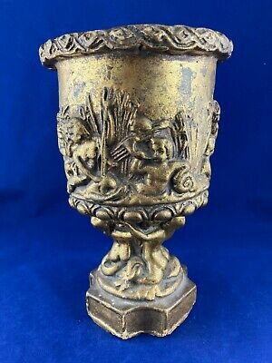 Decorative Antique Gilded Ceramic Urn Vase Chalice Pottery China • 40£