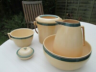 Rare Ashtead Pottery/potters Toilet/wash Set Painted By Stanley Conway • 250£