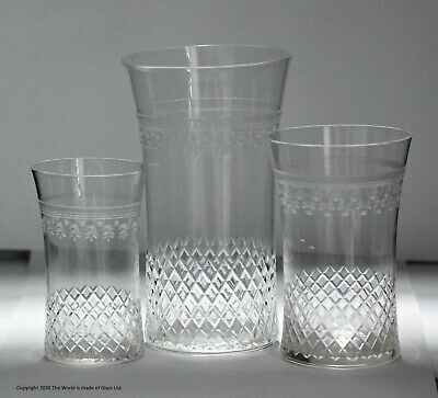 Scarce Pair Of Pall Mall/Lady Hamilton Pattern 3/4 Pint Large Beer Glasses • 70£