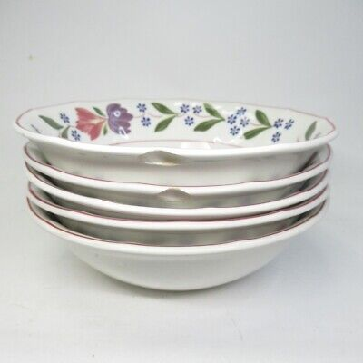 Adams Old Colonial 5x Cereal/Soup Bowls (2 W/ Chips) Used Unboxed Good Condition • 21.99£