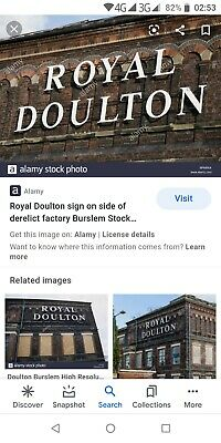 Royal Doulton Original Factory Sign One Off Rare Collectors Item Prototype Trial • 999£