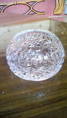Tyrone Crystal Miniature Bowl, Approx 9cm Wide X 5 1/2cm High, Water Mark Base. • 5.30£