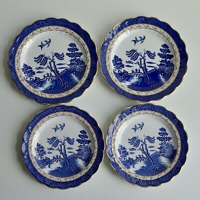 Four Booths Real Old Willow China Plates A8025 • 20£