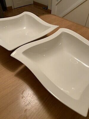 TWO Villeroy & Boch New Wave Very Large Bowls 33 X 33 Cm • 16£