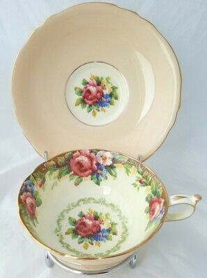 Vintage 1939-49 Paragon Tapestry Rose Cabinet Cup And Saucer - Lovely Condition • 9.99£