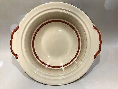 Gray's Pottery Banded Ware 9  Handled Serving Dish Pattern No. B210 1950s • 3.50£