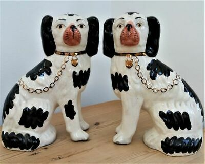Antique Staffordshire Fireside Pair Of Dogs • 30£