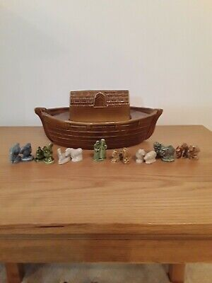 Wade Whimsies Collection Noah Wife And Ark With Set Off Animals  • 20.02£