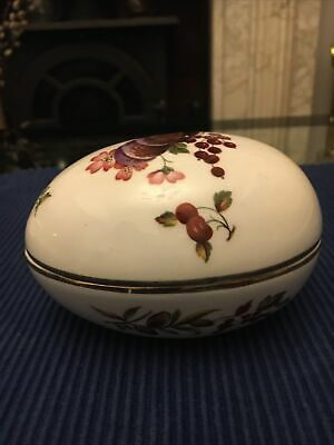 Hammersley Bone China Fruit Egg Trinket Box • 12£