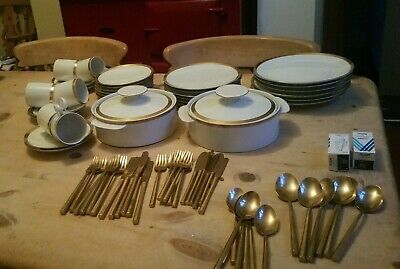 Vintage Thomas Germany Dinner Service 38pc, With Heavy Gold Cutlery Service  • 150£