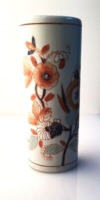 Antique Pottery Vase Chinoiserie With A Beautiful Hand Painted Floral Pattern • 14£