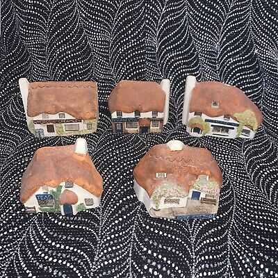 Full Set Of 5 Minature Ambrosia Creamery Cottages Made In Devon • 8.99£