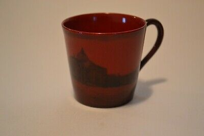 Royal Doulton Rare Flambe' Coffee Can With Gondoliers Venice Scene C.1920's • 28£
