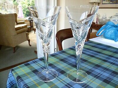 Gleaneagles Crystal 10 Inch Tall Wine Glasses • 9.99£