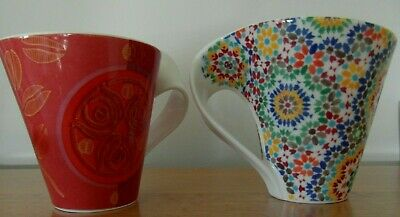 Villeroy & Boch - 1748 Luxembourg  Twisted Handle  Mugs X 2  • 14.99£