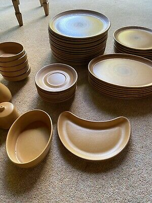 Purbeck Pottery Poole  Toast  Vintage Complete Dinner Service • 130£