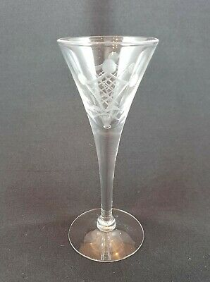 Cambridge Glass Cordial Pattern 7966 Crystal Engraved 5 Inch. 6 Available • 11.05£