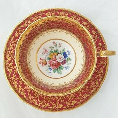 Beautiful Ornate Vintage Aynsley Cabinet Cup And Saucer - Super Condition • 20£