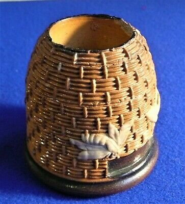 Royal Doulton Lambeth Stoneware Match Holder In Beehive Form • 25£